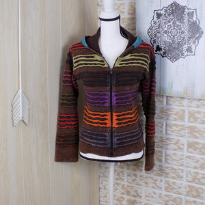 India Boutique hippie style zip up hoodie
